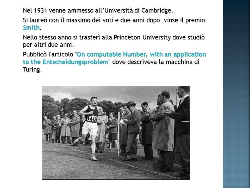 Nel 1931 venne ammesso allUniversità di Cambridge.