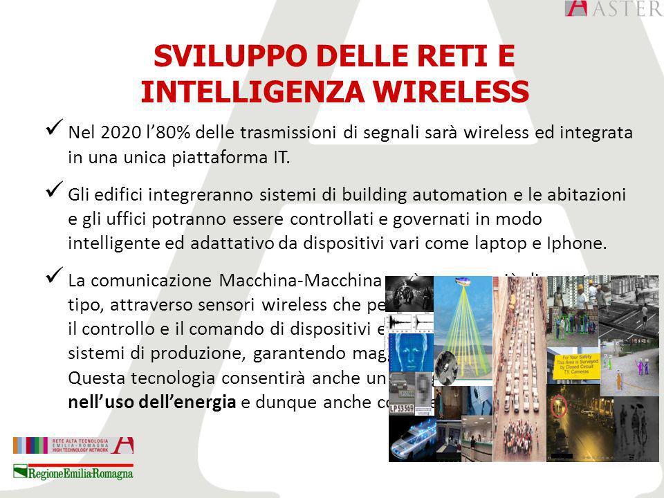 Nel 2020 l80% delle trasmissioni di segnali sarà wireless ed integrata in una unica piattaforma IT.