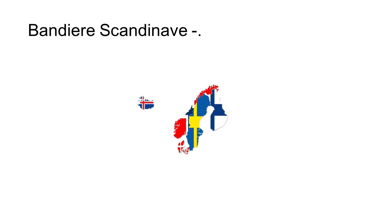 Bandiere Scandinave -.