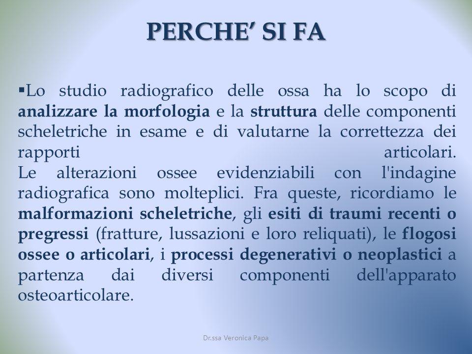 SCATTERING E IMMAGINE DI PARENCHIMA Dr.ssa Veronica Papa