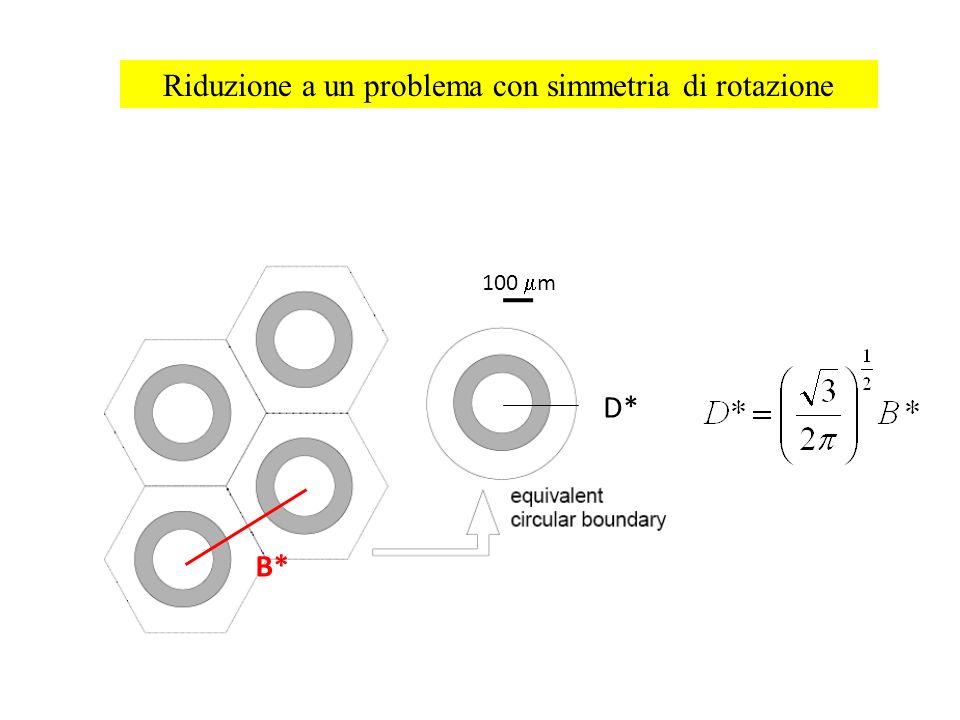 Riduzione a un problema con simmetria di rotazione B* D* 100 m