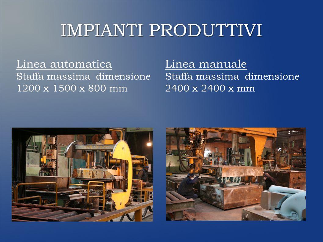 FORNI FUSORI 3 Forni ad induzione: 2 con capacità 1.200 kg 1 con capacità 2.000 kg 5 siviere, capacità da 1.200 kg a 3.500 kg IMPIANTI PRODUTTIVI
