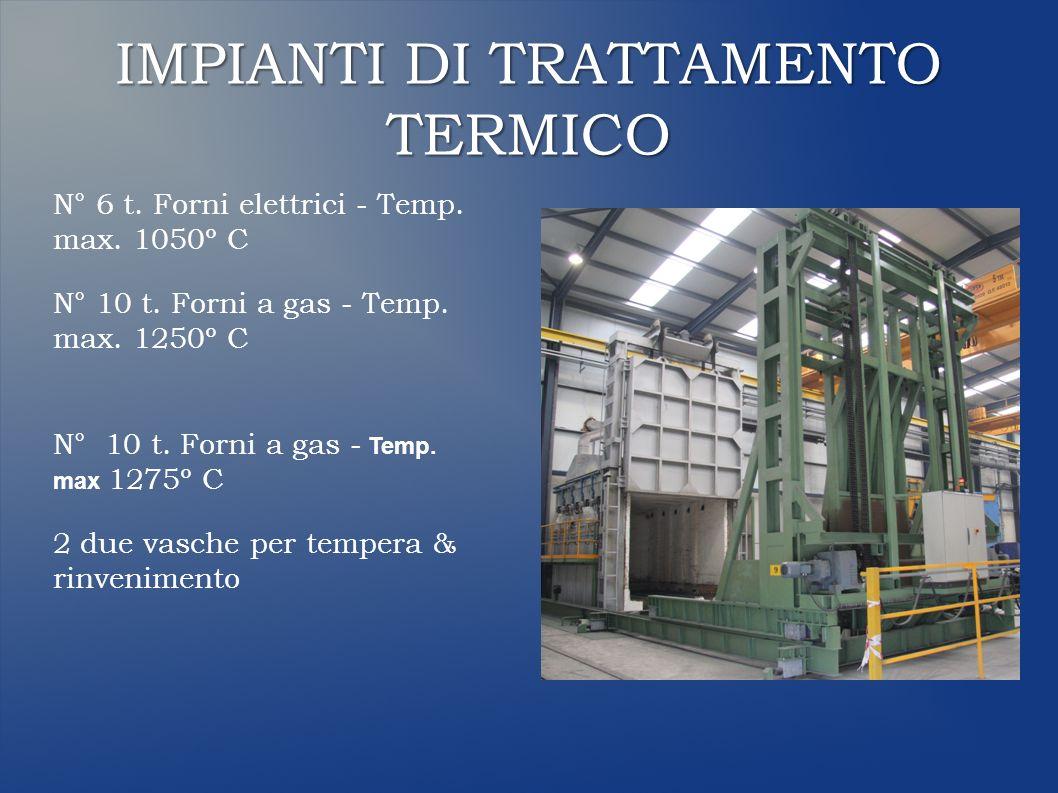 IMPIANTI DI TRATTAMENTO TERMICO N° 6 t. Forni elettrici - Temp.