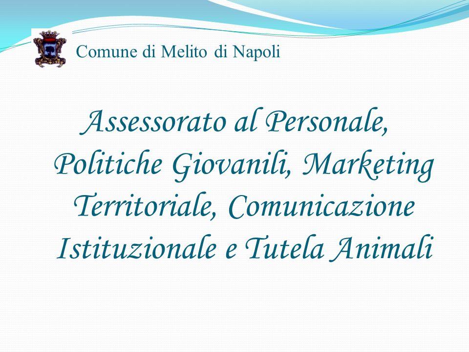 Comune di Melito di Napoli Assessorato al Personale, Politiche Giovanili, Marketing Territoriale, Comunicazione Istituzionale e Tutela Animali