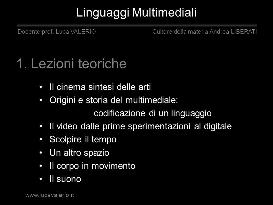 Il cinema sintesi delle arti Origini e storia del multimediale: codificazione di un linguaggio Il video dalle prime sperimentazioni al digitale Scolpi