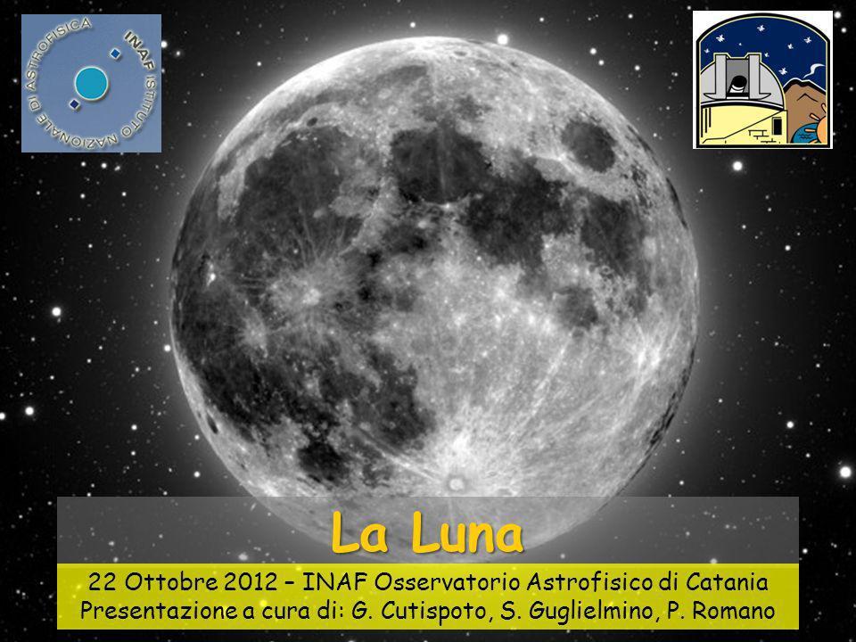 La Luna 22 Ottobre 2012 – INAF Osservatorio Astrofisico di Catania Presentazione a cura di: G.