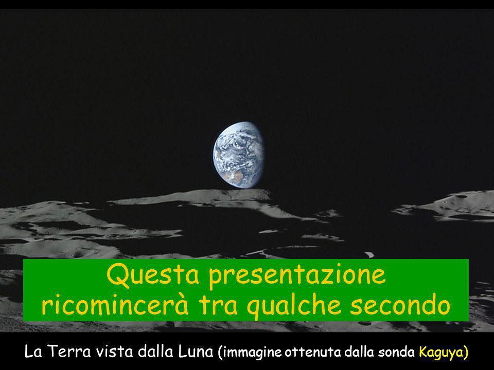 La Terra vista dalla Luna (immagine ottenuta dalla sonda Kaguya) Questa presentazione ricomincerà tra qualche secondo