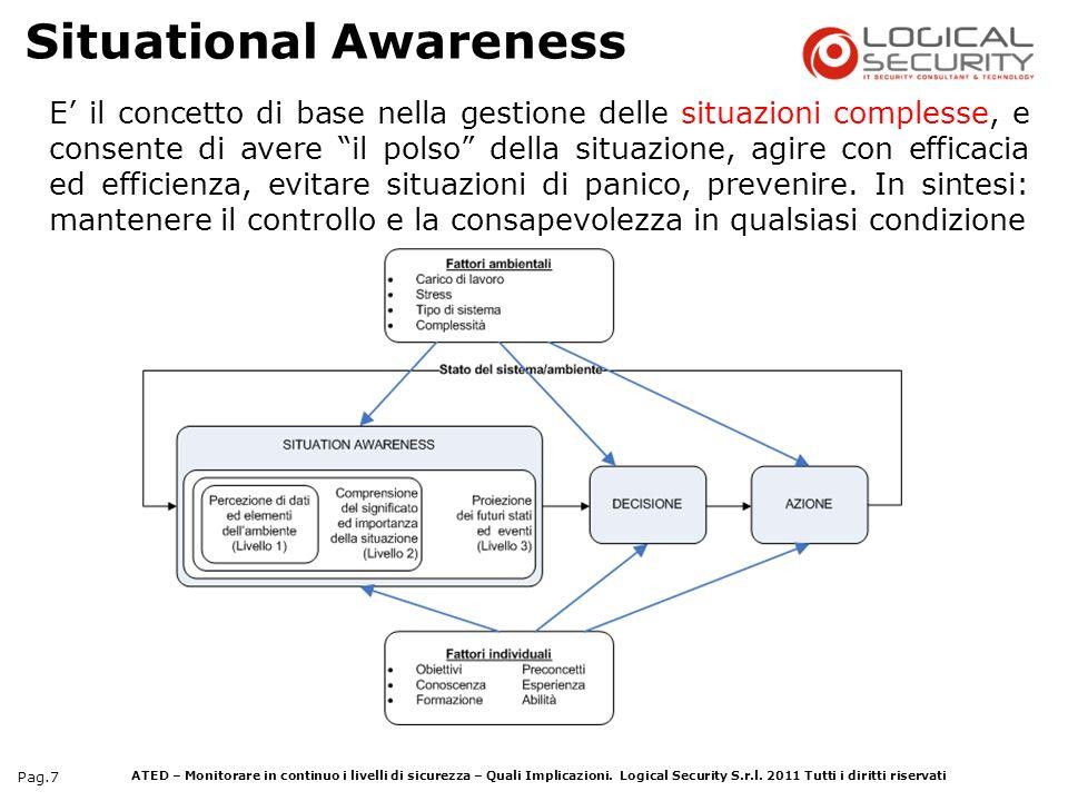 ATED – Monitorare in continuo i livelli di sicurezza – Quali Implicazioni. Logical Security S.r.l. 2011 Tutti i diritti riservati Pag.7 E il concetto