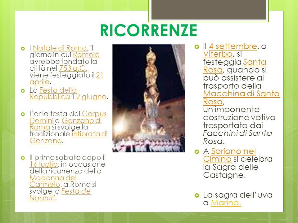 RICORRENZE l Natale di Roma, il giorno in cui Romolo avrebbe fondato la città nel 753 a.C., viene festeggiato il 21 aprile.Natale di RomaRomolo753 a.C