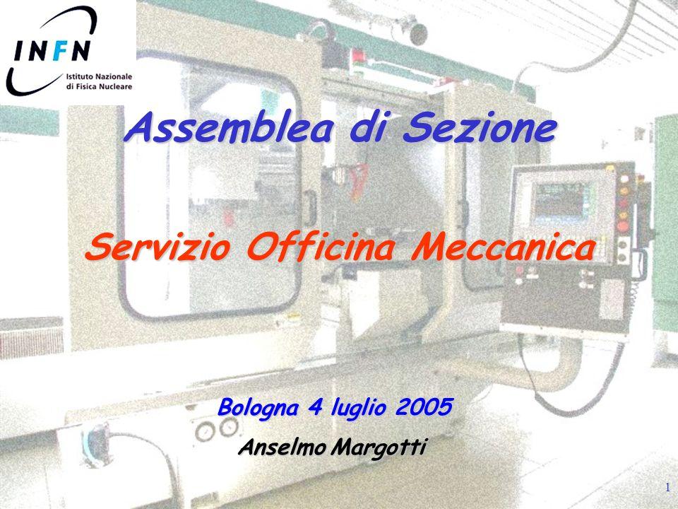 1 Assemblea di Sezione Servizio Officina Meccanica Anselmo Margotti Bologna 4 luglio 2005