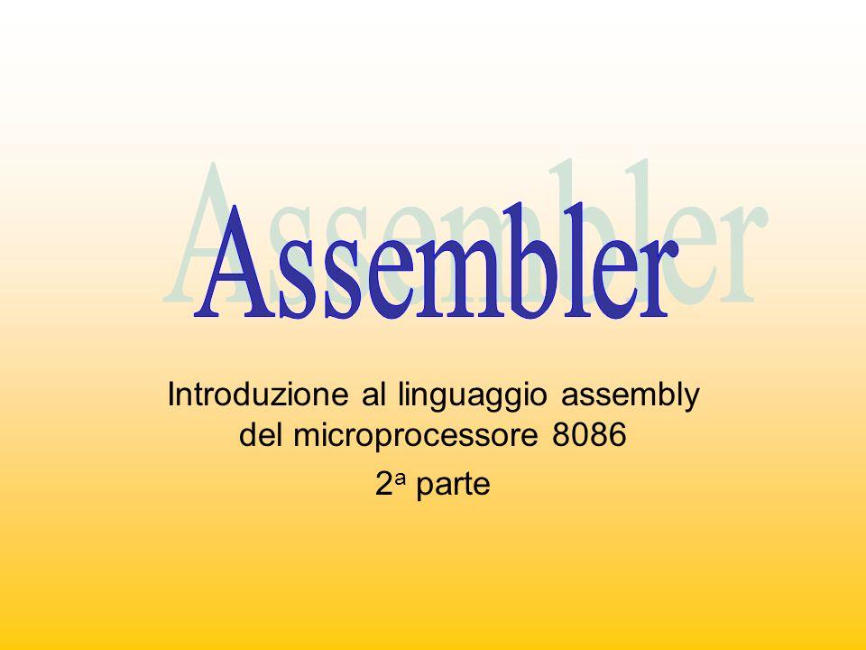 Introduzione al linguaggio assembly del microprocessore 8086 2 a parte