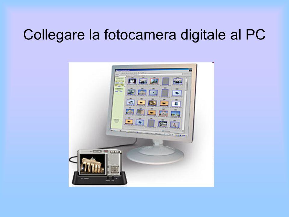 Collegare la fotocamera digitale al PC