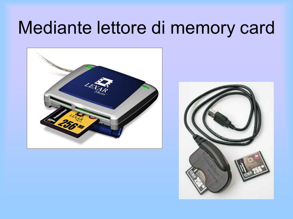 Mediante lettore di memory card