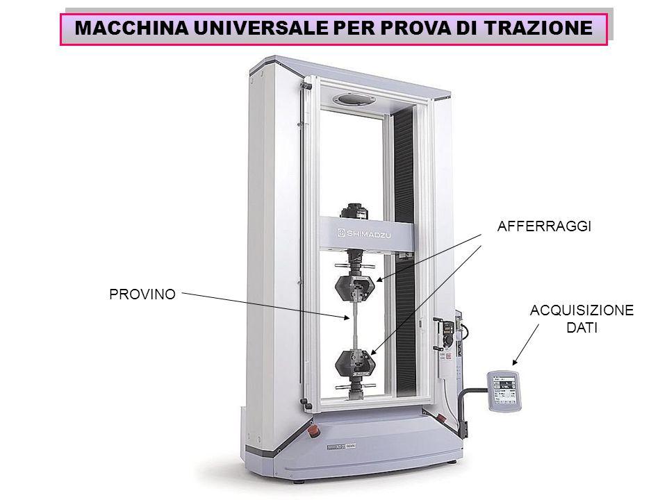 MACCHINA UNIVERSALE PER PROVA DI TRAZIONE PROVINO AFFERRAGGI ACQUISIZIONE DATI