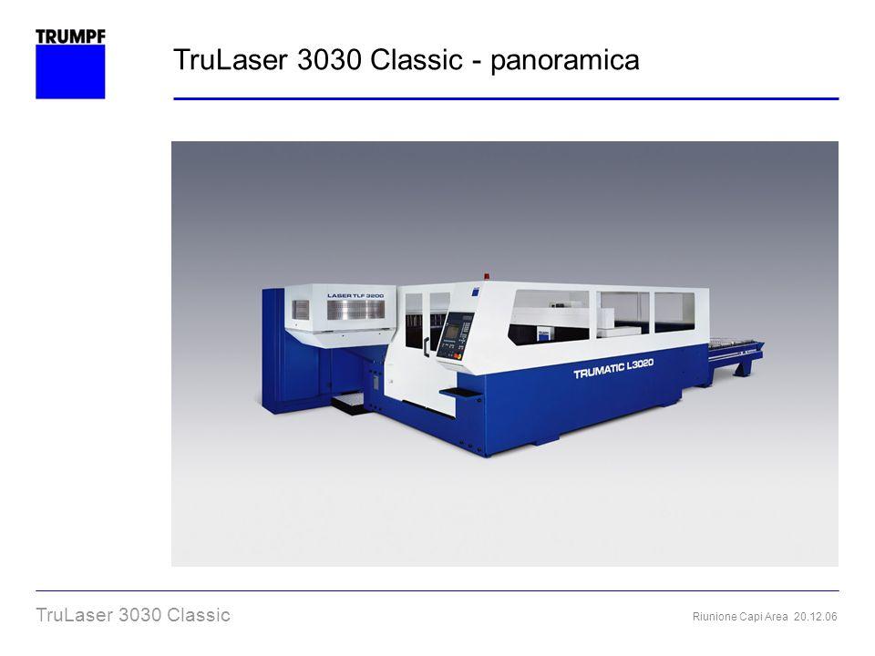 Riunione Capi Area 20.12.06 TruLaser 3030 Classic Maniglie per la movimentazione della paletta Movimentazione agevole anche con lamiere pesanti TruLaser 3030 Classic – Estrazione manuale paletta macchina