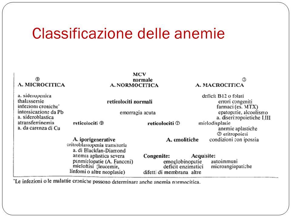 Classificazione delle anemie