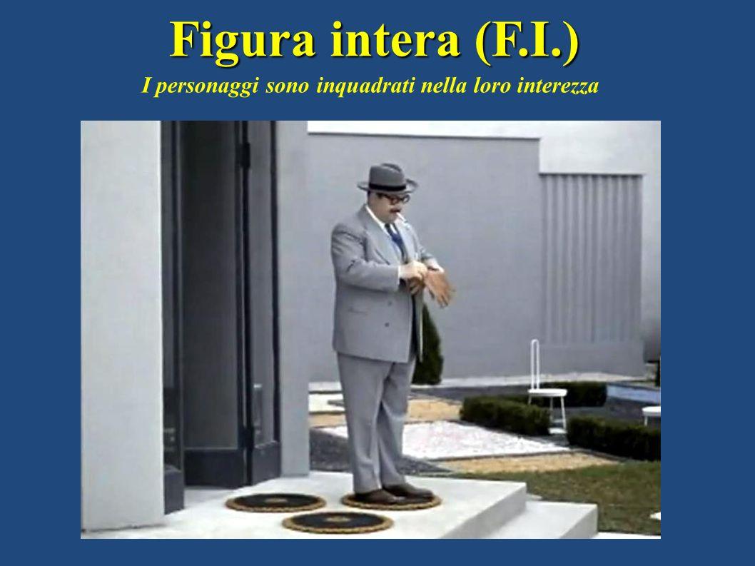 Figura intera (F.I.) I personaggi sono inquadrati nella loro interezza