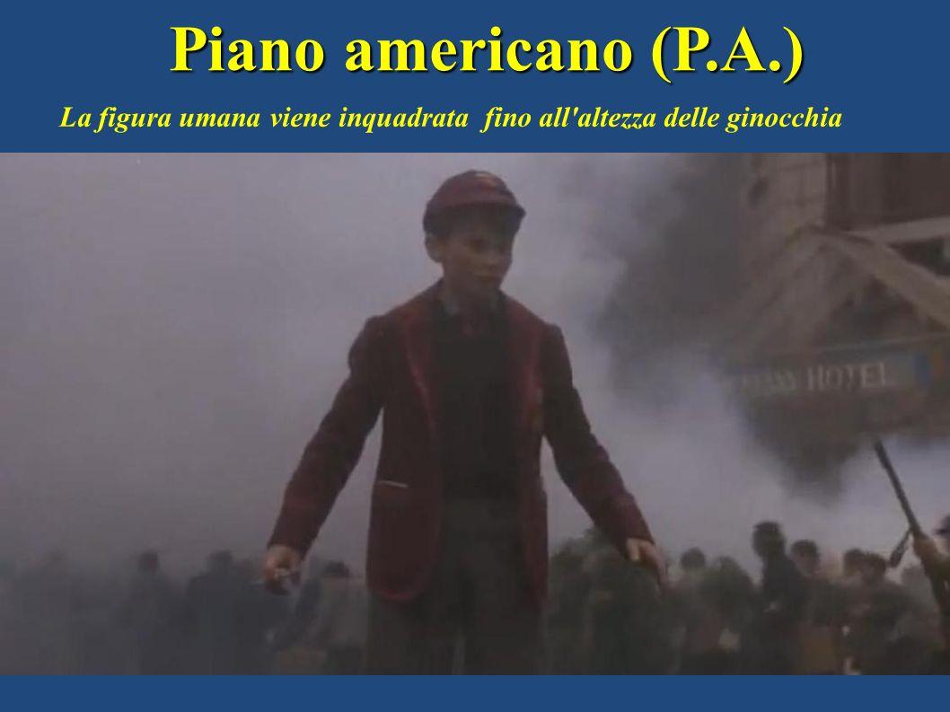 Piano americano (P.A.) La figura umana viene inquadrata fino all'altezza delle ginocchia