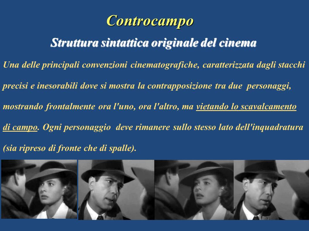 Controcampo Controcampo Struttura sintattica originale del cinema Una delle principali convenzioni cinematografiche, caratterizzata dagli stacchi prec