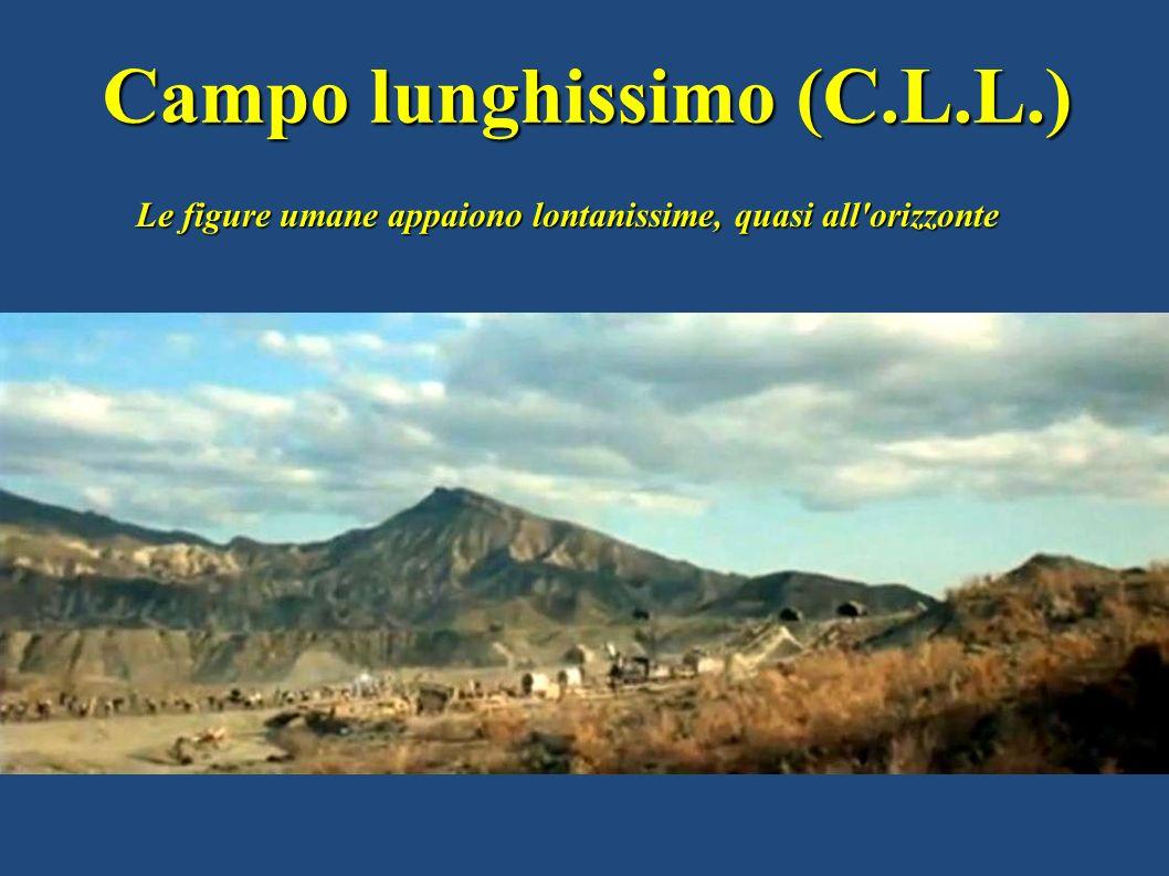 Campo lunghissimo (C.L.L.) Le figure umane appaiono lontanissime, quasi all'orizzonte
