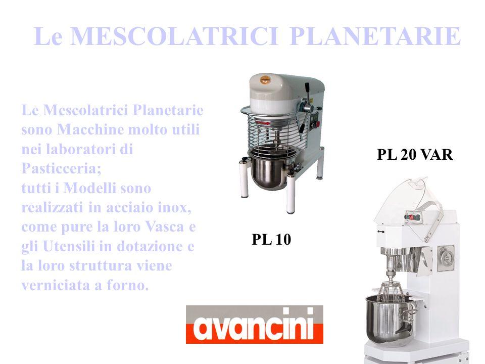 Le Mescolatrici Planetarie sono Macchine molto utili nei laboratori di Pasticceria; tutti i Modelli sono realizzati in acciaio inox, come pure la loro