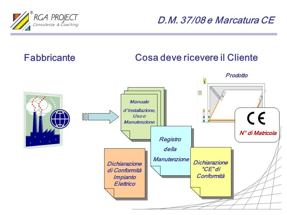 Prodotto Fabbricante Cosa deve ricevere il Cliente Manuale dInstallazione, Uso e Manutenzione Registro della Manutenzione N° di Matricola Dichiarazion