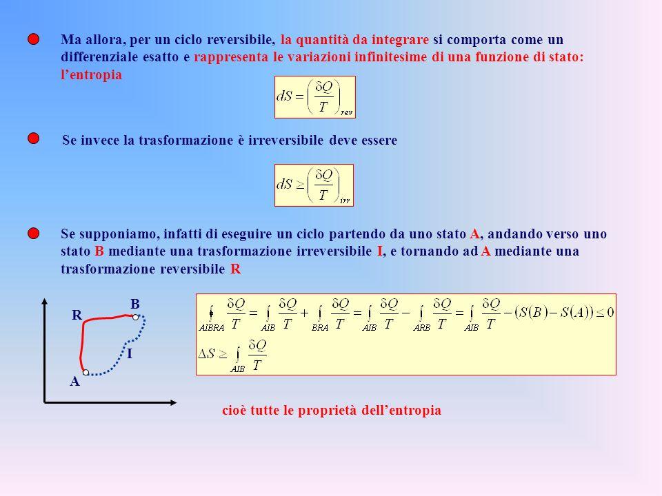Complessivamente ciascuna delle sorgenti non cede né assorbe calore e tutto linsieme delle macchine di Carnot e del sistema S è un sistema termodinami