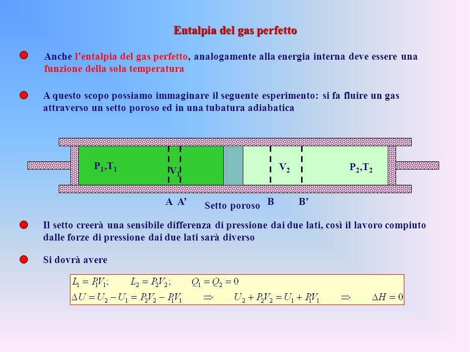 La principale proprietà dellentalpia è che la sua variazione è pari al calore scambiato in una trasformazione isobara Si capisce, quindi, la sua utili