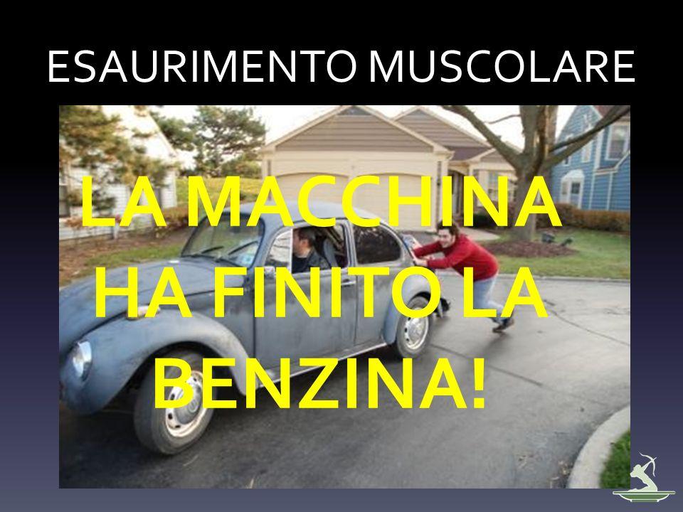 ESAURIMENTO MUSCOLARE LA MACCHINA HA FINITO LA BENZINA!