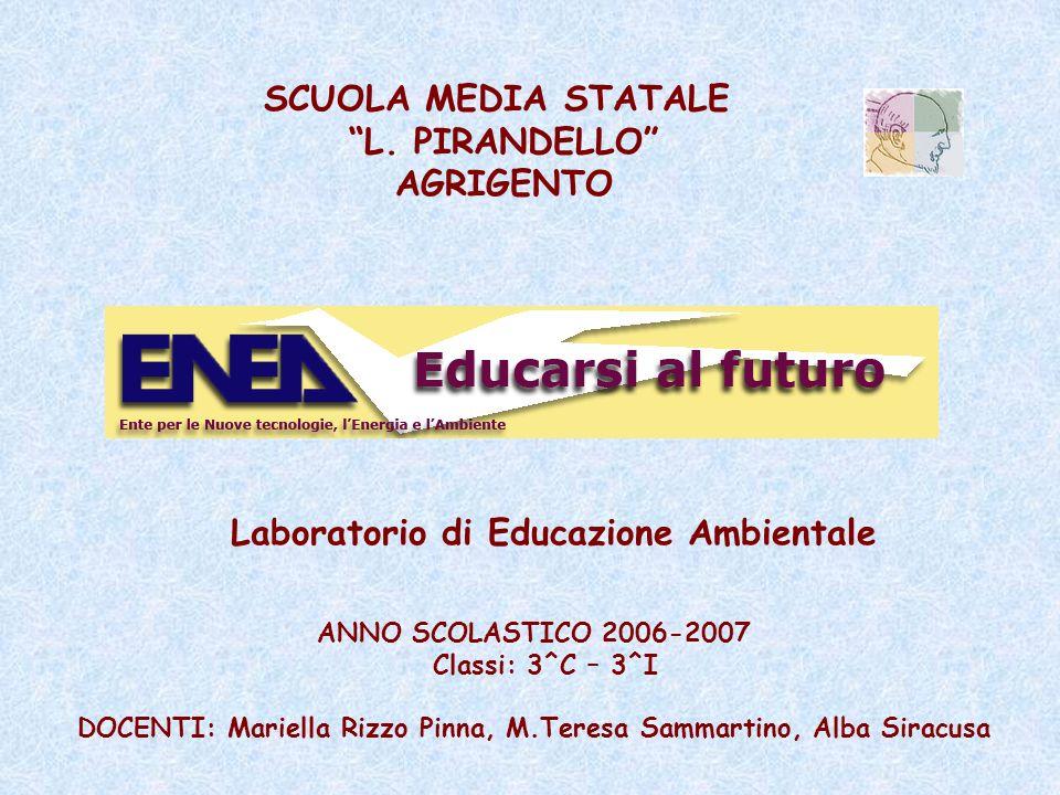 SCUOLA MEDIA STATALE L. PIRANDELLO AGRIGENTO ANNO SCOLASTICO 2006-2007 Classi: 3^C – 3^I DOCENTI: Mariella Rizzo Pinna, M.Teresa Sammartino, Alba Sira