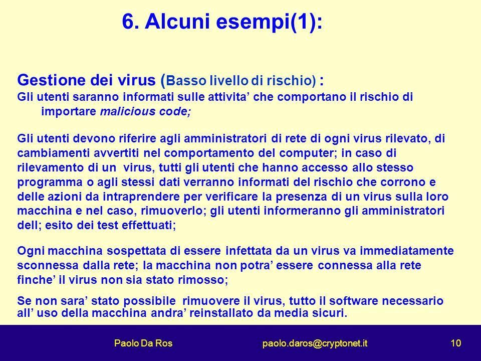 Paolo Da Ros paolo.daros@cryptonet.it 10 6.