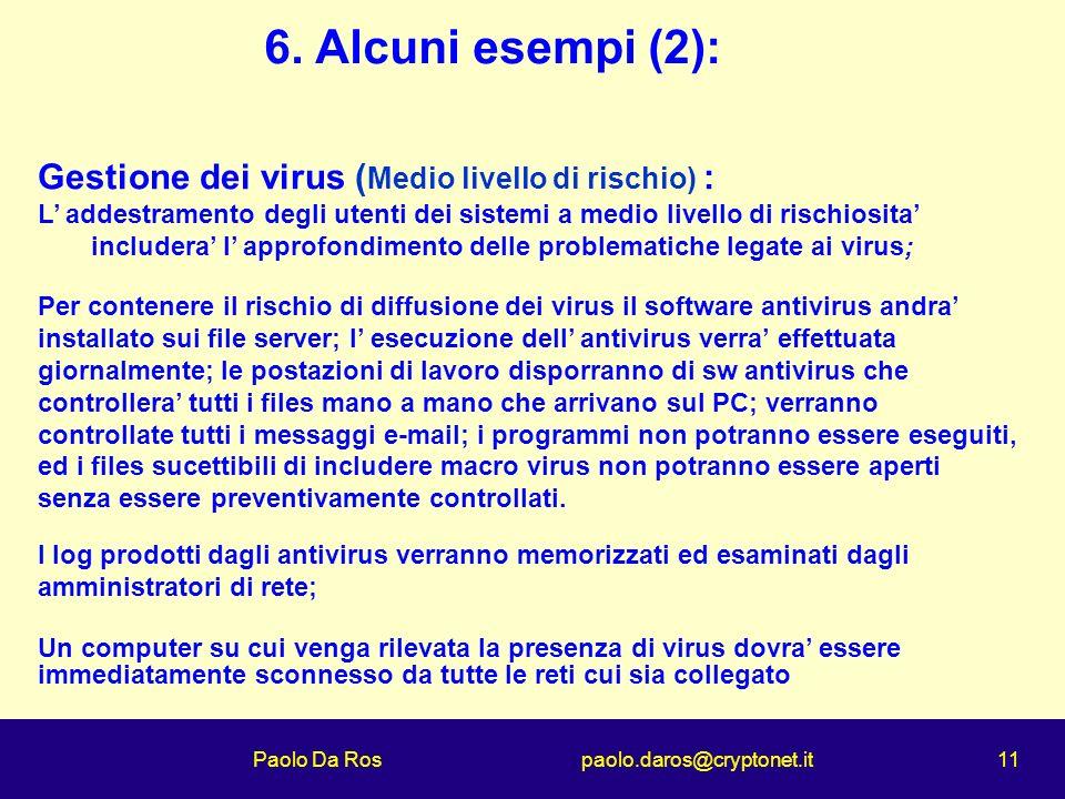 Paolo Da Ros paolo.daros@cryptonet.it 11 6.
