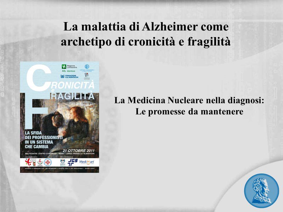 Generalità AD: principale causa di demenza per i pazienti < 65 Incidenza AD raddoppia per ogni gruppo di 5 anni Nel 2050 ci sarà un nuovo malato di AD ogni 33 secondi