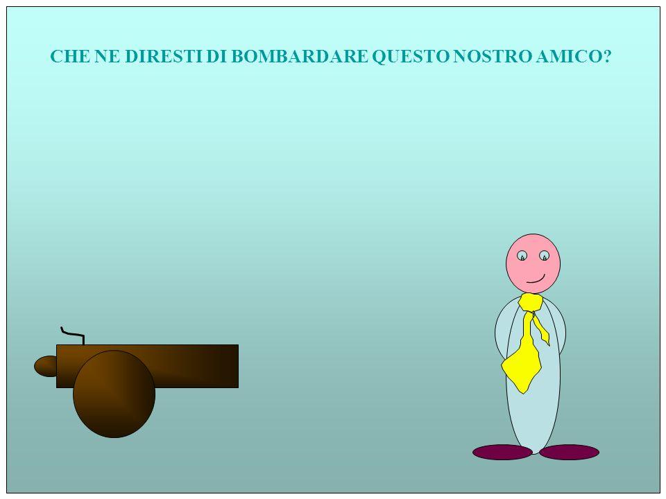 CHE NE DIRESTI DI BOMBARDARE QUESTO NOSTRO AMICO?