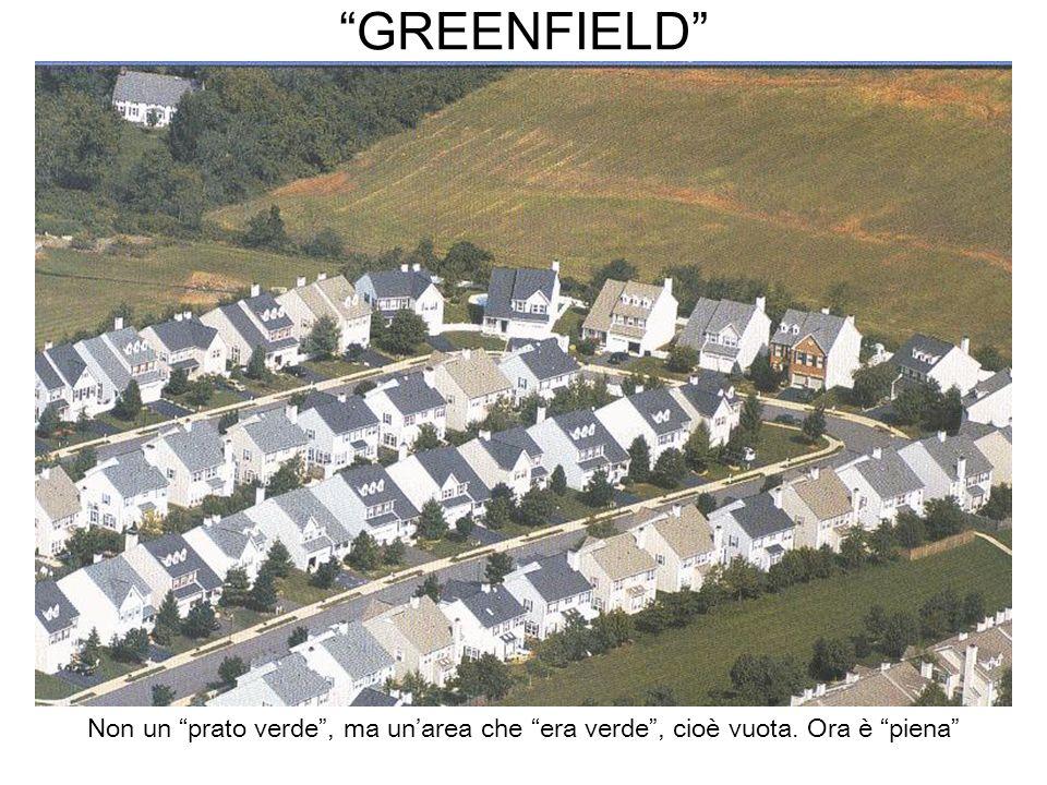 GREENFIELD Non un prato verde, ma unarea che era verde, cioè vuota. Ora è piena