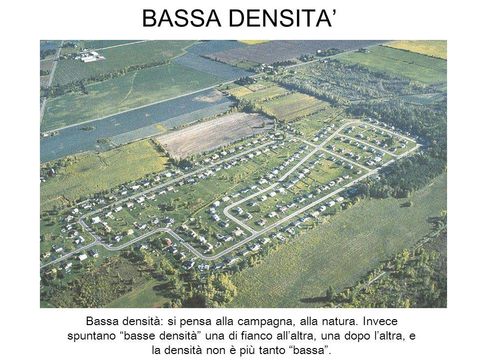 BASSA DENSITA Bassa densità: si pensa alla campagna, alla natura. Invece spuntano basse densità una di fianco allaltra, una dopo laltra, e la densità