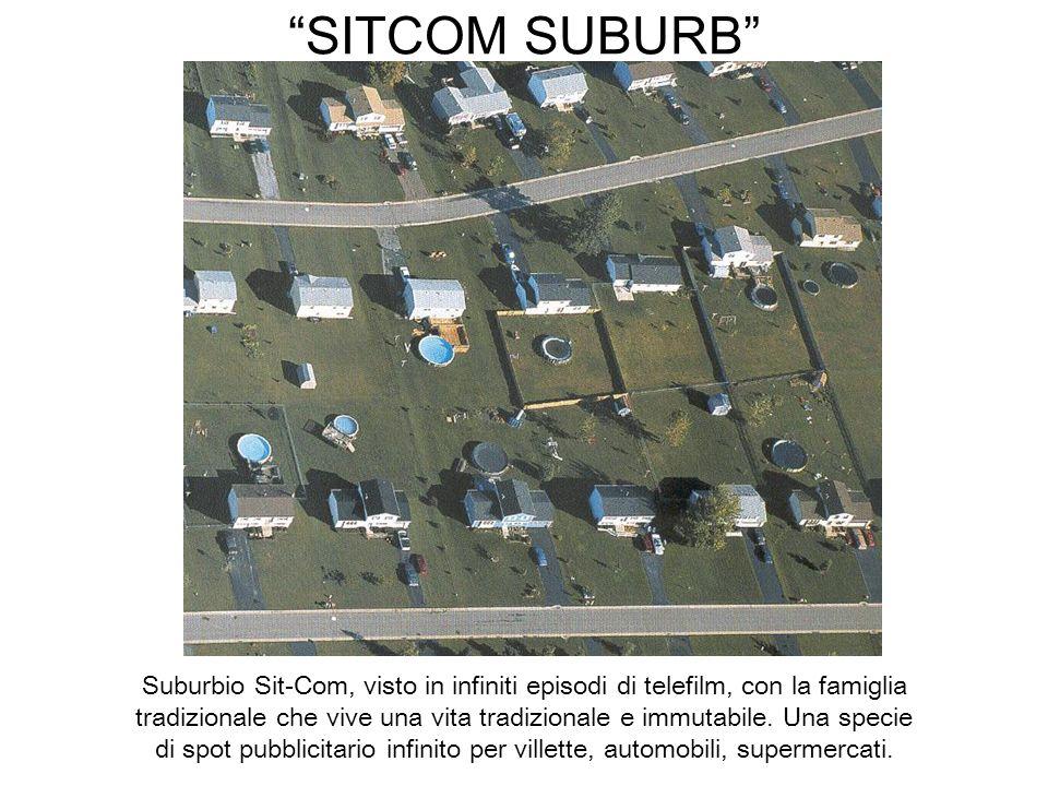 SITCOM SUBURB Suburbio Sit-Com, visto in infiniti episodi di telefilm, con la famiglia tradizionale che vive una vita tradizionale e immutabile. Una s