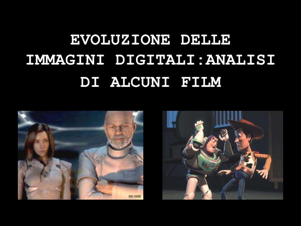 EVOLUZIONE DELLE IMMAGINI DIGITALI:ANALISI DI ALCUNI FILM