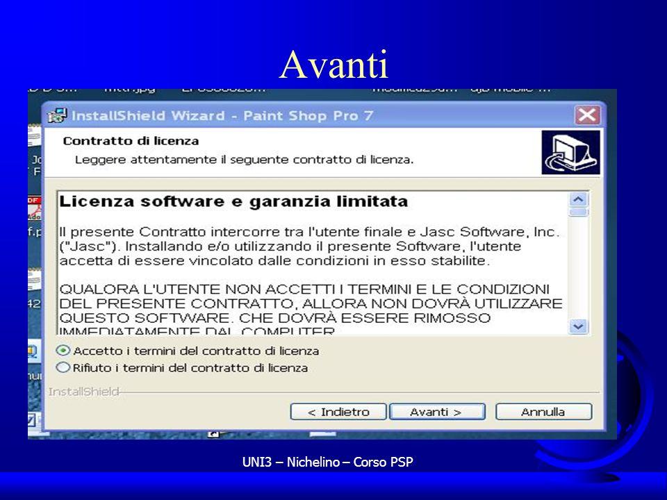 UNI3 – Nichelino – Corso PSP Avanti
