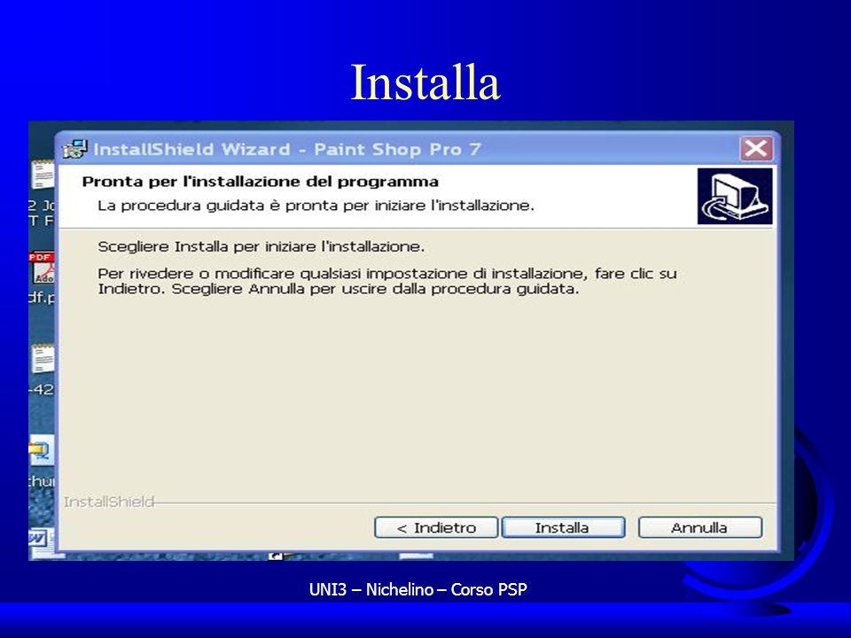 UNI3 – Nichelino – Corso PSP Installa