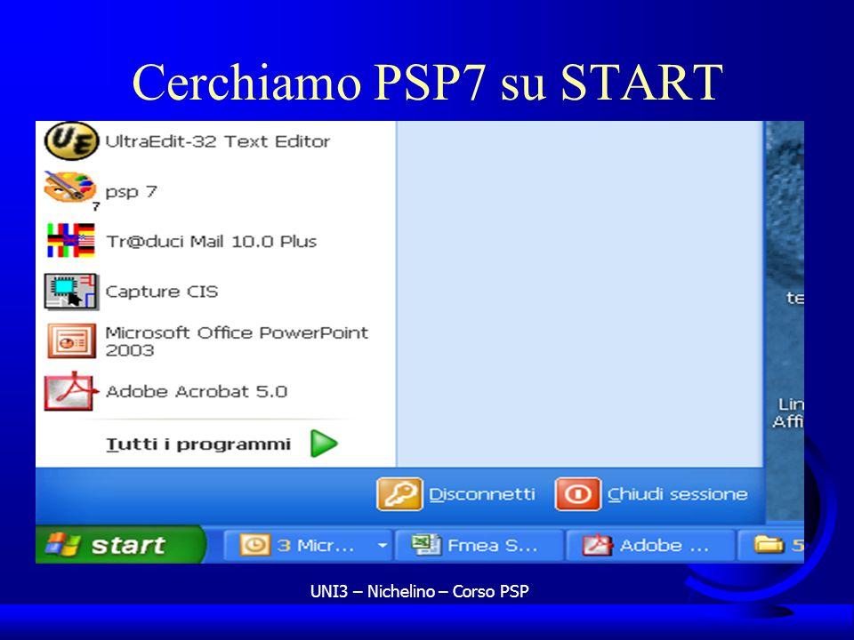 UNI3 – Nichelino – Corso PSP Cerchiamo PSP7 su START