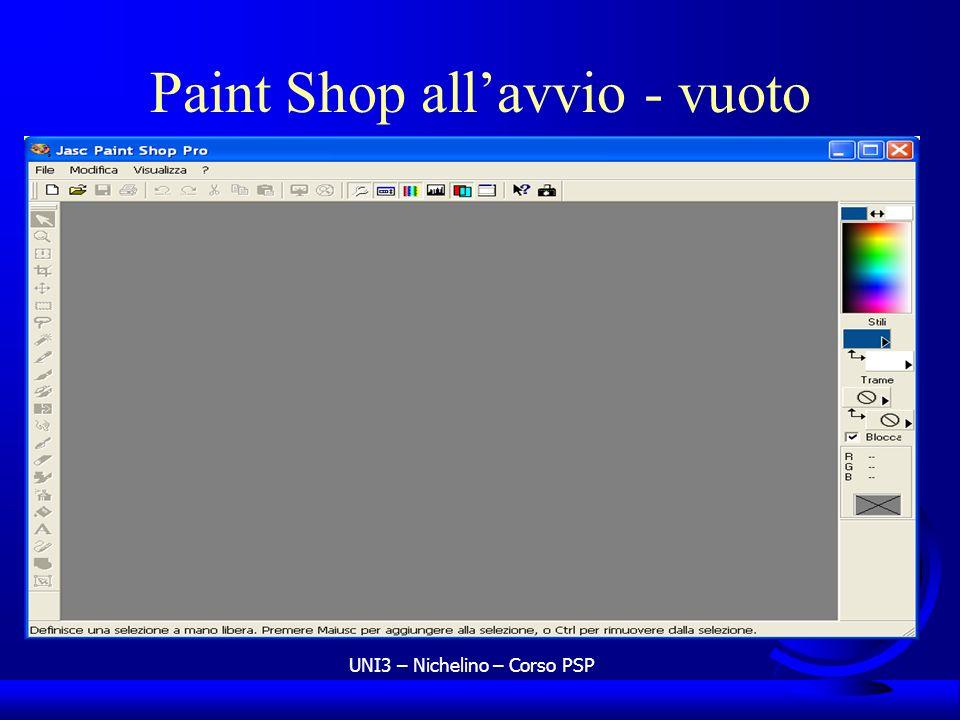 UNI3 – Nichelino – Corso PSP Paint Shop allavvio - vuoto