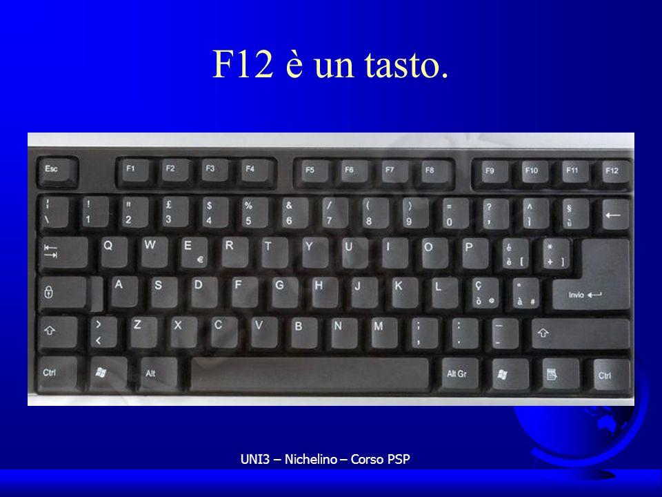 UNI3 – Nichelino – Corso PSP F12 è un tasto.