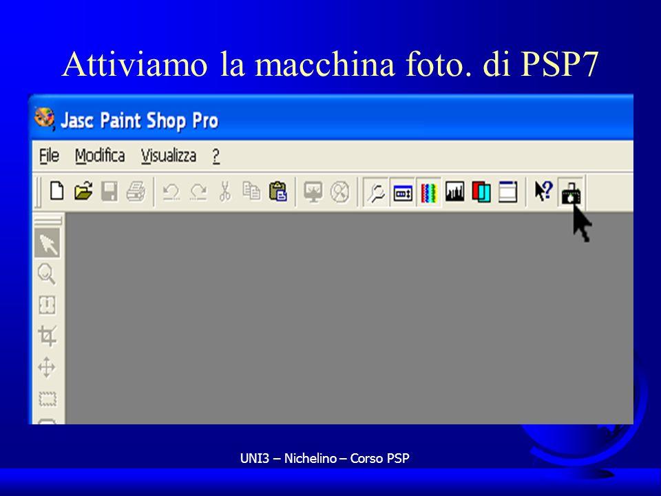 UNI3 – Nichelino – Corso PSP Attiviamo la macchina foto. di PSP7