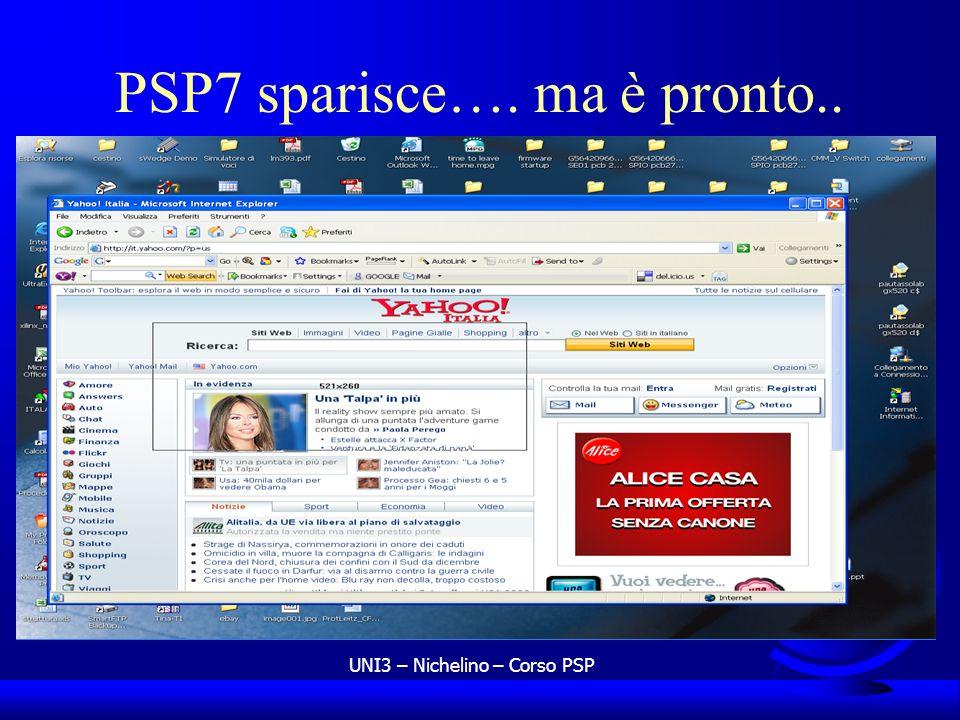 UNI3 – Nichelino – Corso PSP PSP7 sparisce…. ma è pronto..