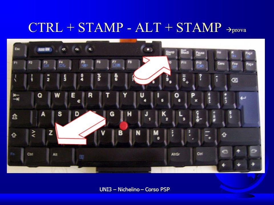UNI3 – Nichelino – Corso PSP CTRL + STAMP - ALT + STAMP prova