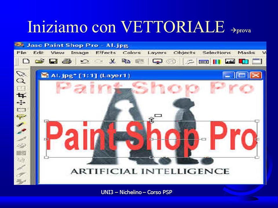 UNI3 – Nichelino – Corso PSP Iniziamo con VETTORIALE prova