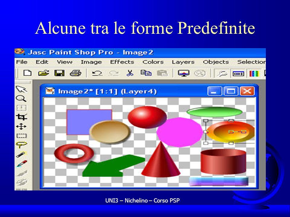 UNI3 – Nichelino – Corso PSP Alcune tra le forme Predefinite