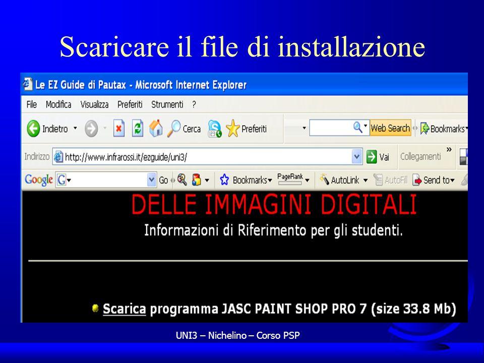 UNI3 – Nichelino – Corso PSP Scaricare il file di installazione