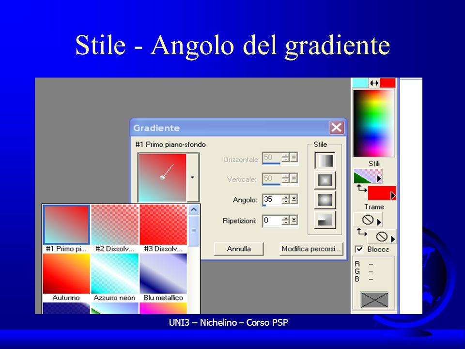 UNI3 – Nichelino – Corso PSP Stile - Angolo del gradiente